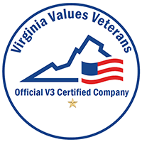 Virginia values Veterans. Official V3 Certified Company.