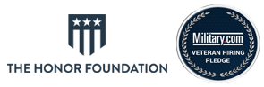 The Honor Foundation and Military.com Veteran Hiring Pledge badge