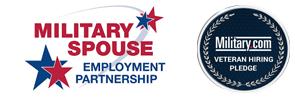 Military Spouse Employment Partnership and Military.com Veteran Hiring Pledge badge