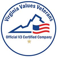 Virginia Values Veterans. Official V3 Certified Company